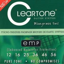 Cleartone Acoustic EMP Phosphor Bronze, Acoustic Guitar String Set, Bluegrass, .012-.056