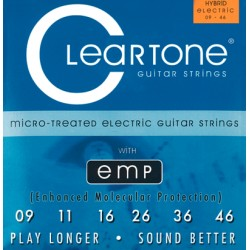 Cleartone Electric Nickel-Plated EMP, Electric Guitar String Set, Hybrid, .009-.046