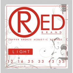 Cleartone RED Brand Copper Bronze Acoustic String Set, Light, .012-.053