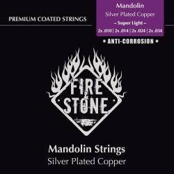 Fire&Stone Struny pre mandolínu Sada strun Super Light