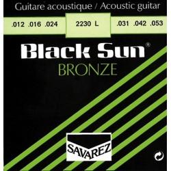 Savarez struny pre akustickú gitaru Black Sun Bronze E1.012